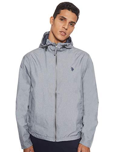 U.S. POLO ASSN. Herren Classic Solid Windbreaker Jacket Jacke, grau meliert, X-Large