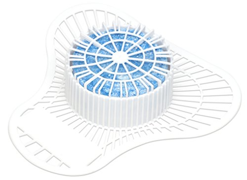 Big D 691 Extra Duty Urinal Screen with Non-Para Block, Clean Breeze Fragrance, 2000 Flushes (Pack of 12) - Ideal for restrooms in offices, schools, restaurants, hotels, stores