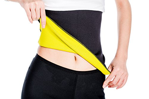 ValentinA Hot Slimming Belt Trainer Shaper Workout Sauna Suit Weight Loss Cincher Black