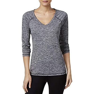 Ideology Womens Rapidry Performance Pullover Top Gray M