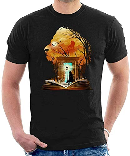 Aghdfssdhg Men's Chronicles of Narnia Aslan Wardrobe Collage Cool T-Shirt,R2,Small