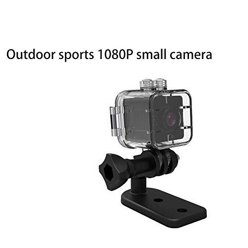 Zoiseo Action Cam, kleine bewakingscamera, mini-sportcamera, geschikt voor thuiskantoor in de open lucht en om te zwemmen