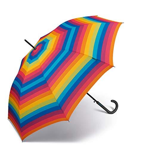 Paraguas de Mujer Largo Automático United Colors of Benetton, Ocho Varillas, 105 cm de diámetro. (Multicolor)