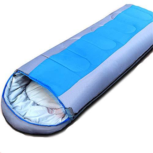 Camping slaapzak, reiskussen met compacte compressiezak - 4 seizoenen slaapzak voor volwassenen en kinderen - Lichtgewicht, warm en wasbaar, voor wandelen op reis.