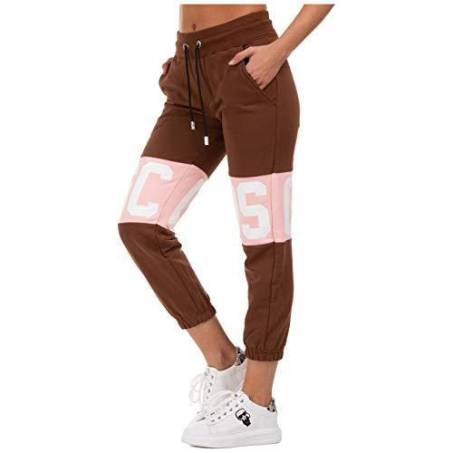 GCDS Damen Jogginghose Logo Band Marrone XS