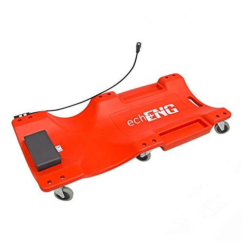 Carrello sottovettura per manutenzione auto con luce LED echoENG