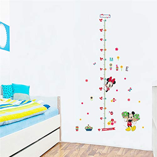 CVG Cartoon Movie Mouse Minnie Children Height Measure Wall Decals for Kids Rooms Decor PVC adesivos de Parede DIY Wall Stickers