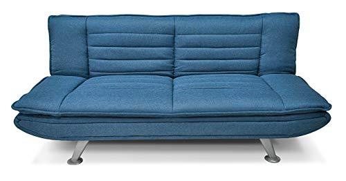 Divano letto clic clac in tessuto blue marino - divano 3 posti mod. Iris