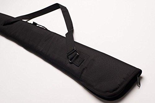 CUEL Queue-Tasche für Snooker-Queues 3/4-geteilt, aus schwarzem Kunststoff mit Platz für EIN Queue und Zwei Extensions