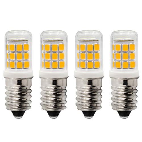 Bombilla LED E14, 2,5 W, 3000 K, luz blanca cálida, repuesto para bombillas halógenas de 25 W, CA 230 V, para frigorífico, máquina de coser, campana extractora, no regulable, paquete de 4