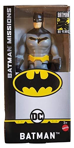 DC Comics Batman Missions 6' Inch Batman (Gray Suit) Basic Action Figure in Window Box