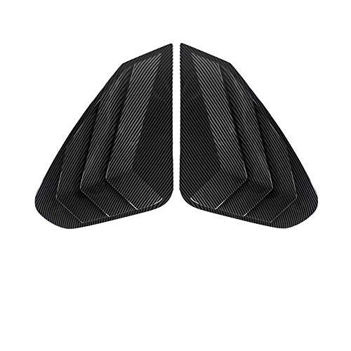 LYSHUI Cubierta de persiana de Ventana Triangular Trasera, Pegatina Decorativa embellecedora ABS, para Toyota RAV4 Wildlander 2020, Accesorio Exterior
