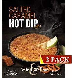 Wind & Willow Gourmet Hot Dip Mixes 2 pack (Salted Caramel Hot Dip Mix)