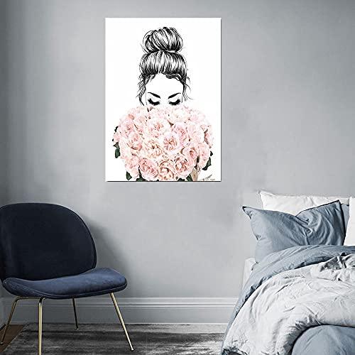 CloudShang Pestañas Negro Labios Mujeres Poster Sencillez Perfume Libros Poster Moda Pared Arte Impresiones Moderno Salón Belleza Chica Habitación Decoracion De la Lona Arte Vogue Pintura F23095