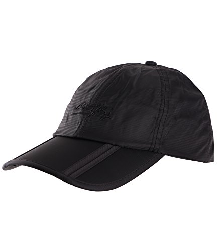 Sumolux Men Women Outdoor Rain Sun Waterproof Quick-Drying Long Brim Collapsible Portable Hat Black
