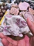 Alasmy Piedras Preciosas 200G áspero Natural Plum Flor tourmalina cálculos de Cuarzo curación Piedras Preciosas de Cristal Crudo para la fabricación de Joyas