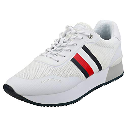 Tommy Hilfiger dames Mesh City Trainers wit