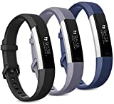 Pack 3 Replacement Band Compatible for Fitbit Alta Bands/Fitbit Alta HR Bands, Adjustable Replacement Soft Silicone...