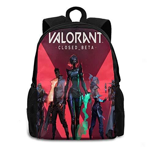Fashion Laptop Bag Art_VALORANT Teem Travel Backpack Purse Strong Storage Student College Adult Backpack for Men Women Black