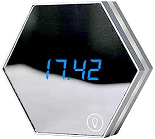 FACAZ Mirror Light Cheap SALE Start Night Makeup mart Alarm Clock Lamp Desk with