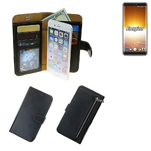 K-S-Trade® Schutzhüll Für Energizer P600S Schutz Hülle Portemonnaie Case Phone Cover Slim Klapphülle Handytasche E Handyhülle Schwarz Aus Kunstleder (1 STK)
