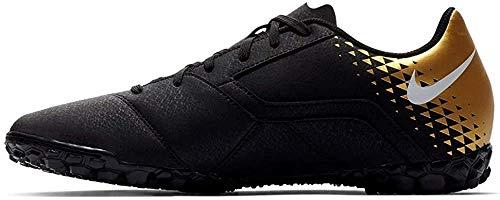 Nike Bomba Tf, Scarpe da Calcio Unisex-Adulto, Multicolore (Black/White/Mtlc Vivid Gold 077), 40.5 EU