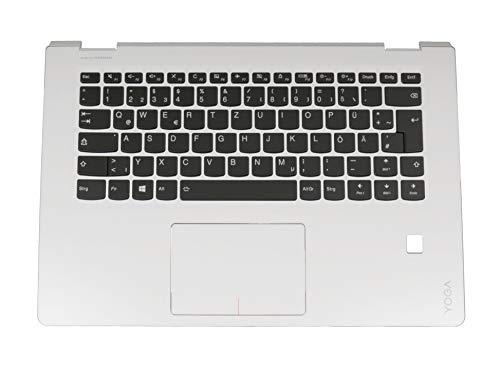 Lenovo Yoga 510-14IKB (80VB) Original Tastatur inkl. Topcase DE (deutsch) schwarz/weiß mit Backlight mit Aussparung für Fingerprint-Reader