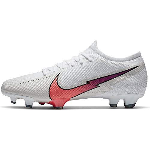 Nike Vapor 13 Pro FG White Flash Crimson Hyper Jade - Botas de fútbol para hombre, color Blanco, talla 45 EU