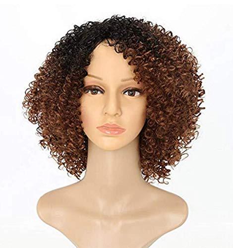 SHANG Femme Perruque Cheveux Courts nouille instantanée Rouleau Mode Moelleux Perruque Naturelle réaliste Petit Volume