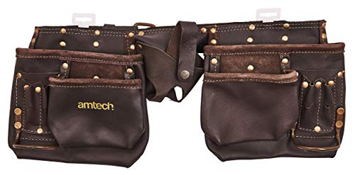 Am-Tech 12 Pocket Heavy Duty Leather Tool Pouch, N1045