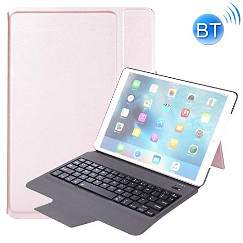 XUAILI Tablet Case with Keyboard T1095 for iPad Pro 10.5 inch/Air 10.5 inch Ultra-Thin One-Piece Plastic Bluetooth Keyboard Leather Cover with Stand Function (Color : Rose Gold)