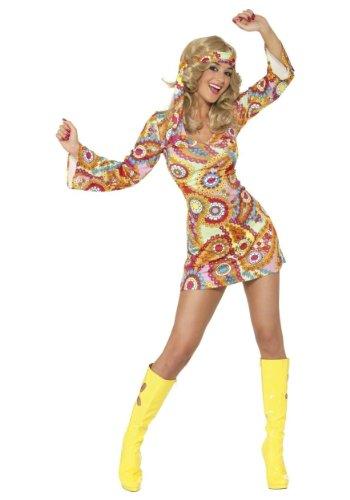 Smiffy's (34060S) - 1960er Hippie-Kostüm für Damen , Größe S (36-38)