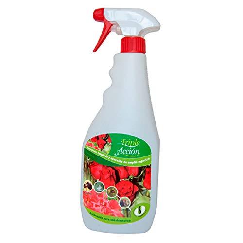 Spray Triple Acción 750ml insecticida, fungicida y acaricida, oidio, pulgon.