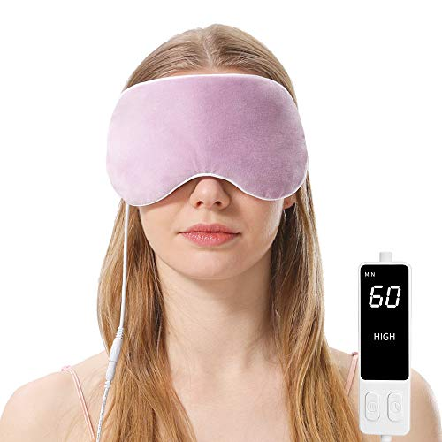 Heated Eye Mask, Steam Treatment for Dry Eyes, Warm Compress Moist Heat for Blepharitis, Dark Circle, Chalazion, Puffy Eyes, Stye Treatment(Purple)