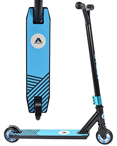 Apollo Stunt Scooter - Genius Pro - Black/Blue - Robuster Funscooter mit ABEC 9 Kugellagern, Kickscooter, Tretroller, Roller