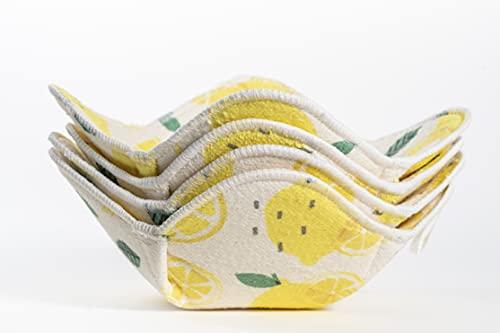MEEBUN Collection Microwave Bowl Huggers Set Of 4, Lemon Microwave Safe Hot Bowl Holder,...