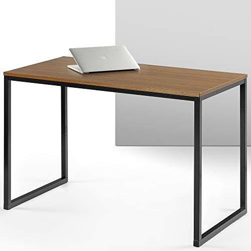 ZINUS Jennifer 47 Inch Black Frame Desk / Computer Workstation / Office Desk / Easy Assembly, Brown (Kitchen)