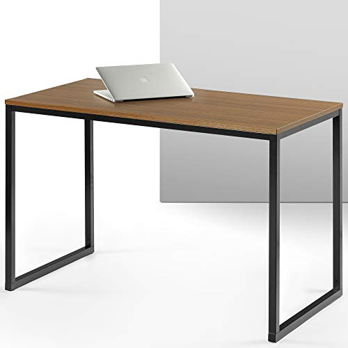 ZINUS Jennifer 47 Inch Black Frame Desk / Computer Workstation / Office Desk / Easy Assembly, Brown