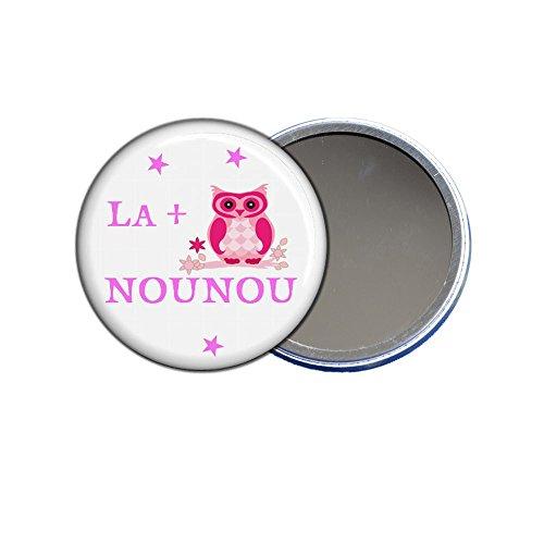 ANGORA Grand Miroir de Poche 9cm, la + Chouette Nounou