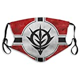 Zeon Flag Texture White Face mask Unisex Washable Reusable and Adjustable Mouth