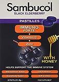 Sambucol Black Elderberry Immuno Forte Pastillas Masticables | Vitamina C | Zinc | Complemento alimentario de apoyo inmunitario | 20 pastillas