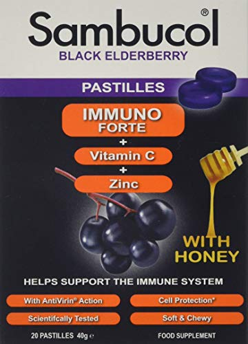 SAMBUCOL Black Elderberry Immuno Forte Pastilles, 1 Stück