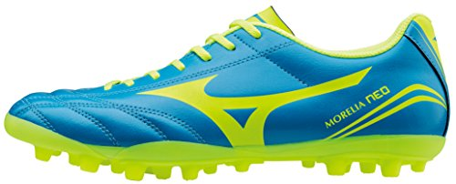Morelia Neo CL AG Football Boots - Diva Blue/Safety Yellow - Size 8.5
