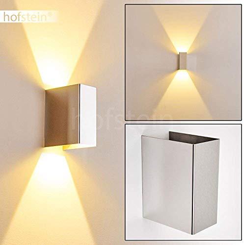 LED Wandlampe Castel, Wandleuchte aus Metall in Chrom, Wandstrahler 1-flammig, 1 x 6 Watt, 500...