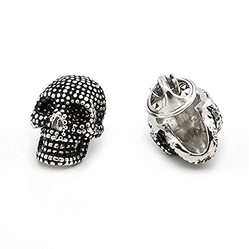 3D gótico Plata Esqueleto cráneo Broche Solapa Pin Hermosa muñeca