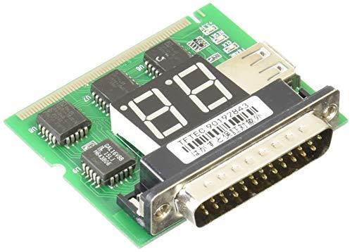 変換名人 PCIマザーボード診断カード miniPCI&パラレルポートテスト機能付 2桁表示モデル PCITEST3