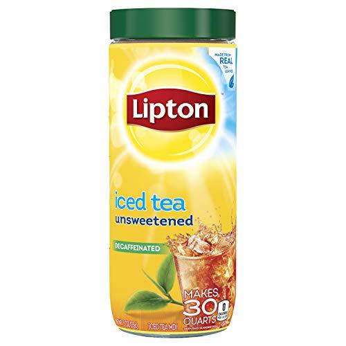 Lipton Black Iced Tea Mix, Decaffeinated Unsweetened, 30 qt (Pack of 6)