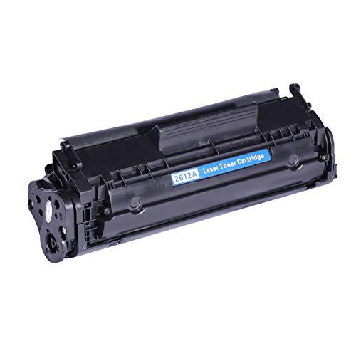 1 Toner schwarz kompatibel für HP Q2612A 12A für LaserJet 1010 1012 1015 1018 1020 1022 1022N 1022NW 3015 3020 3030 3050 3052 3055 M1005 M1319F MFP (Schwarz)
