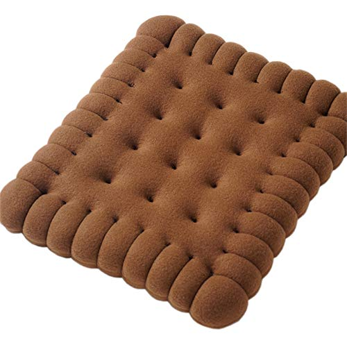 ACRD Almohadillas De Asiento, Cojín De Galleta Engrosado Almohada De Terciopelo Súper Corto Cojín De Silla De Color Chocolate Cojín Tatami (tamaño : 40×45cm)
