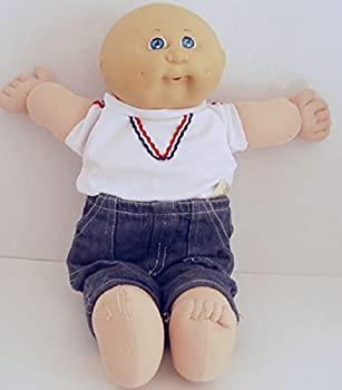 Vintage Cabbage Patch Kid CPK Preemie Doll 1982 Bald with Blue Eyes